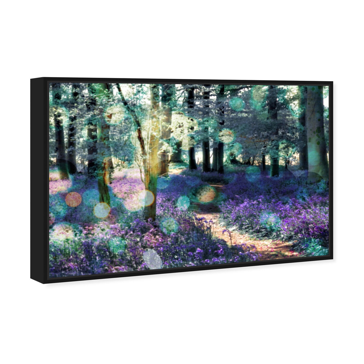 Angled view of Lavender Morning featuring nature and landscape and forest landscapes art.