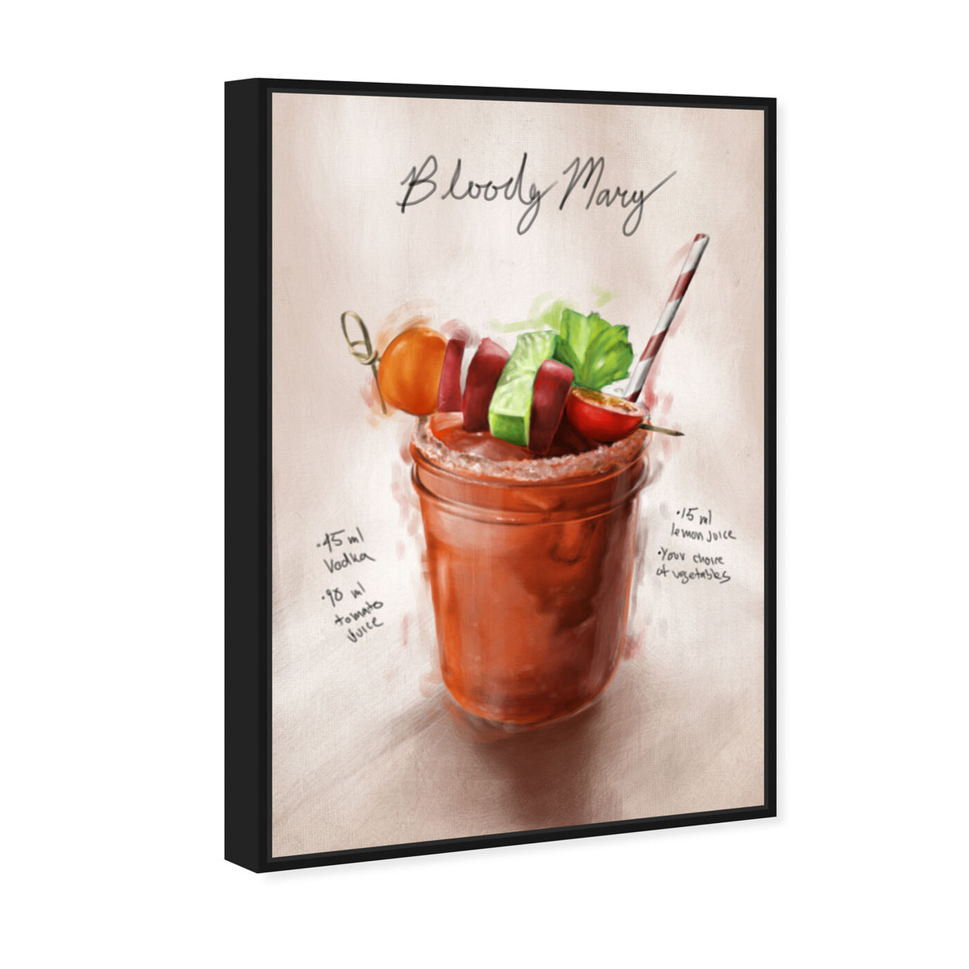 Angled view of Bloody Mary featuring drinks and spirits and cocktails art.