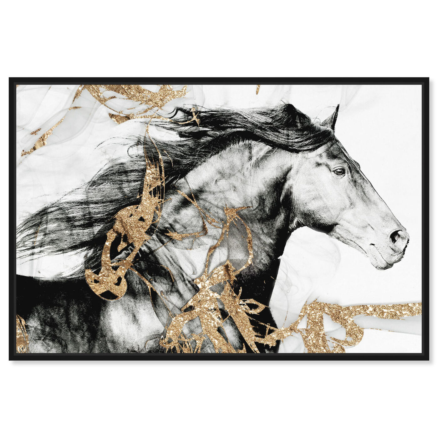 Front view of Gold Beauty featuring animals and farm animals art.