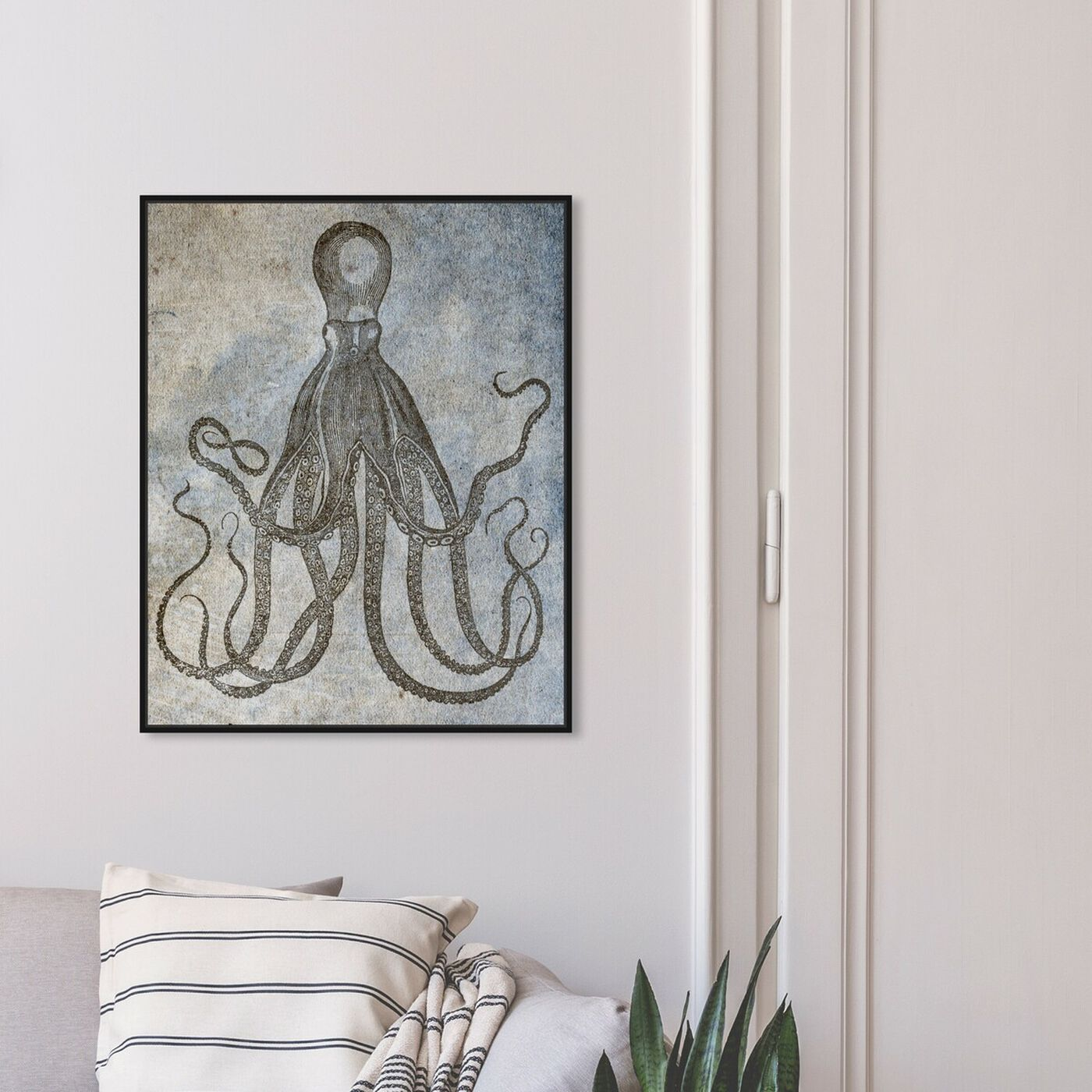 Hanging view of Octopus II featuring nautical and coastal and marine life art.