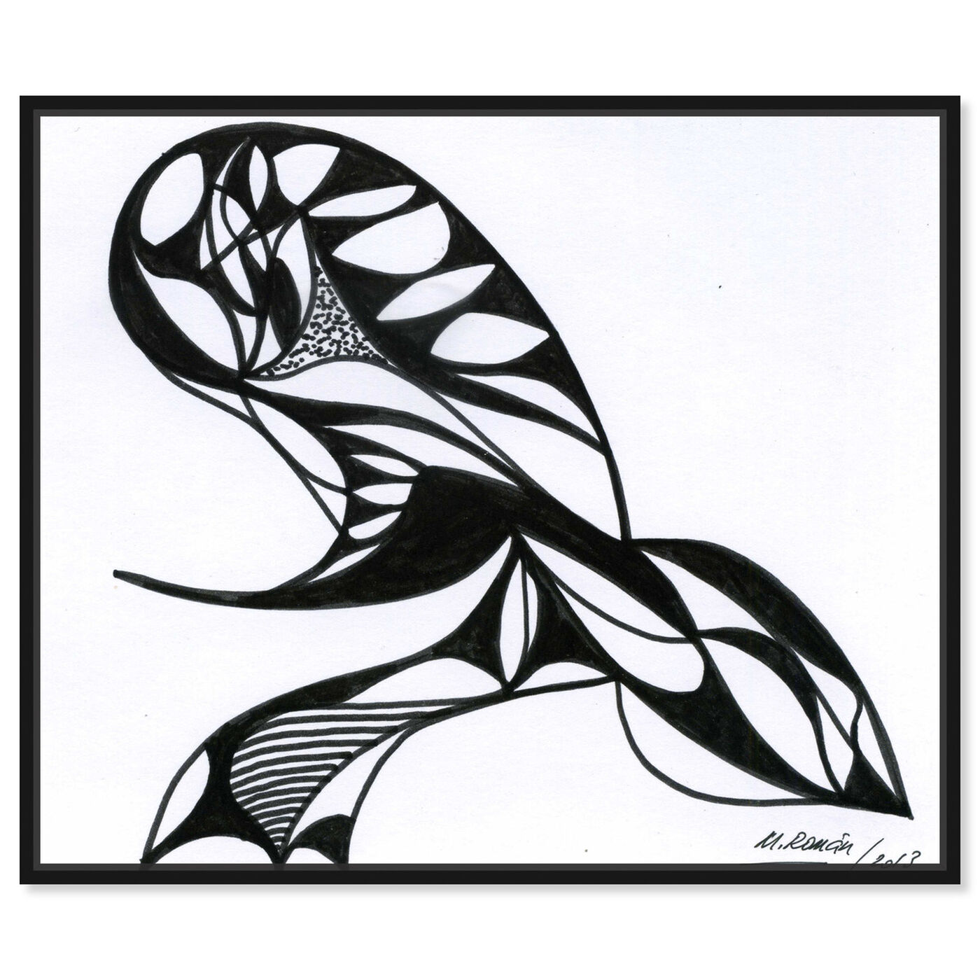 Front view of The Sting featuring abstract and shapes art.