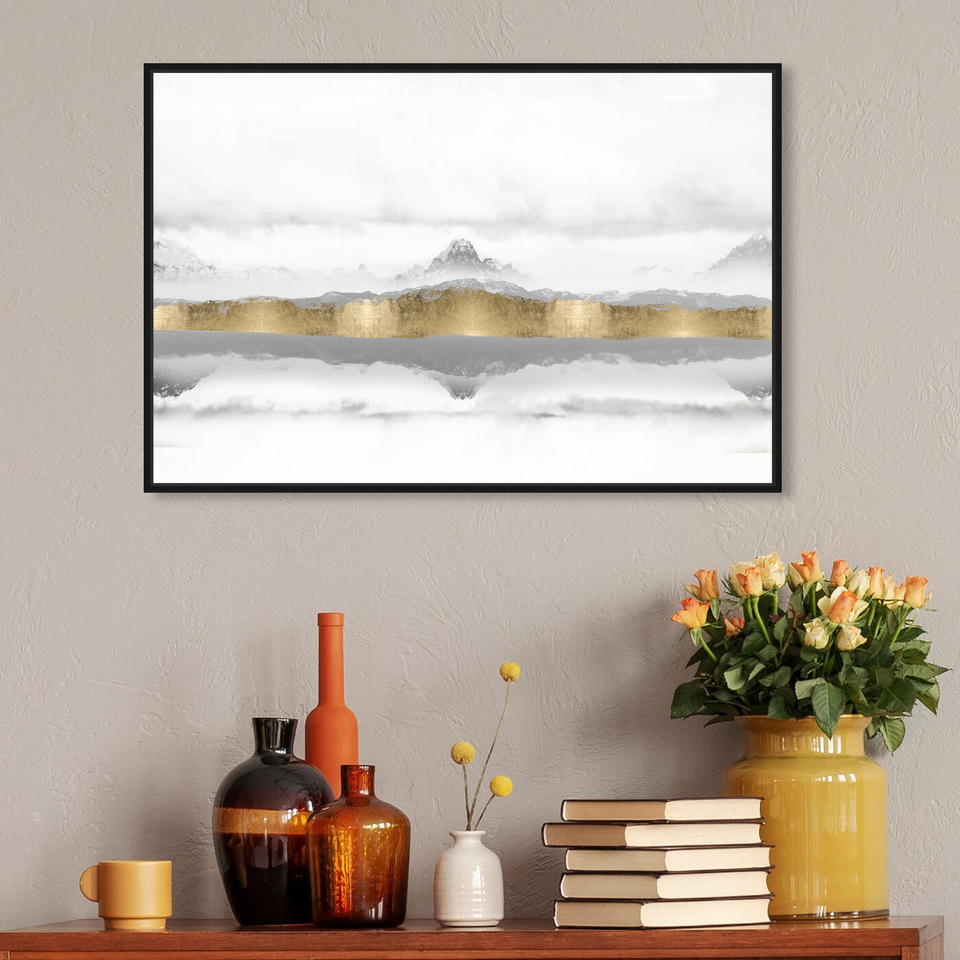 Hanging view of Mountain of the Heart featuring abstract and textures art.