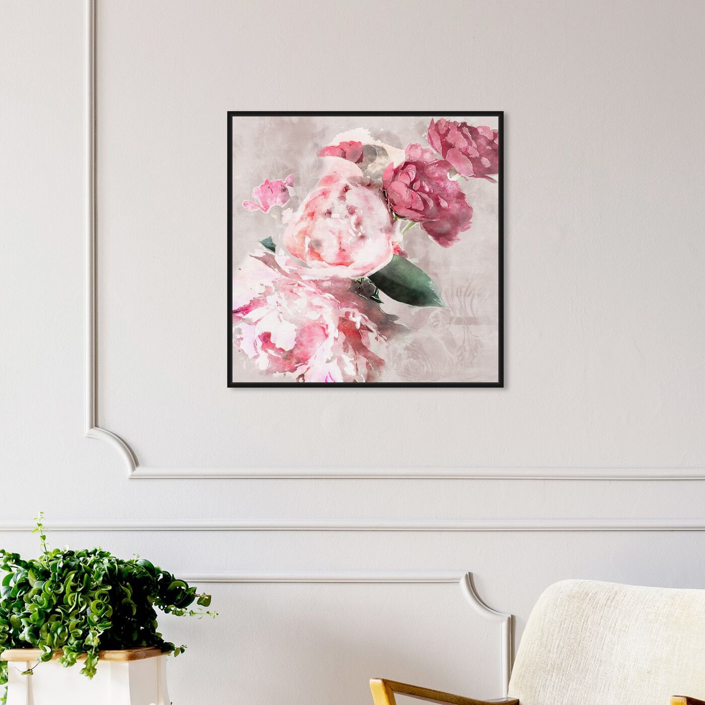 Hanging view of Soft Romantic featuring floral and botanical and florals art.