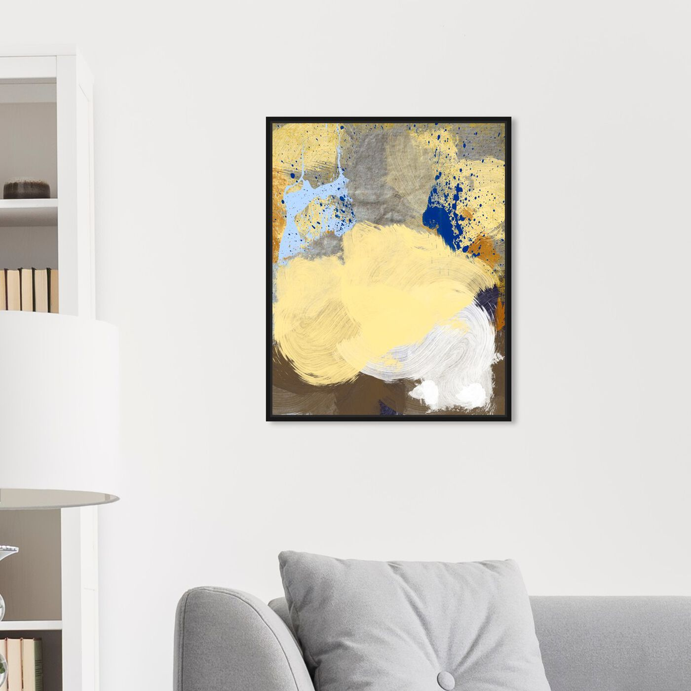 Hanging view of Number 8 featuring abstract and paint art.