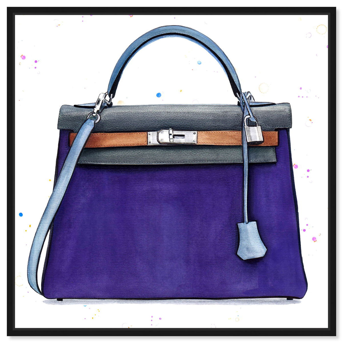 Front view of Doll Memories - Violet featuring fashion and glam and handbags art.