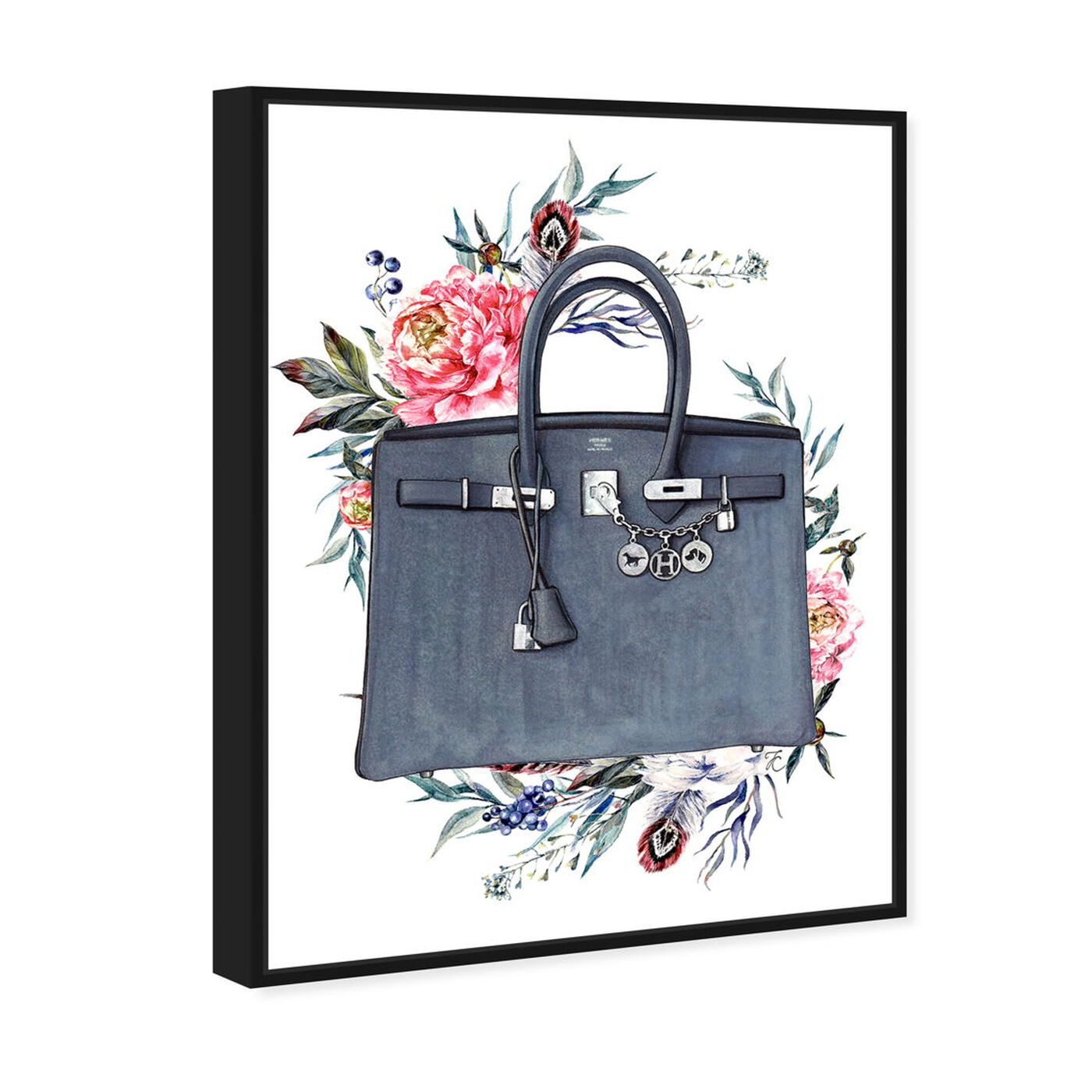 Angled view of Doll Memories - Paris Glam and Flowers featuring fashion and glam and handbags art.