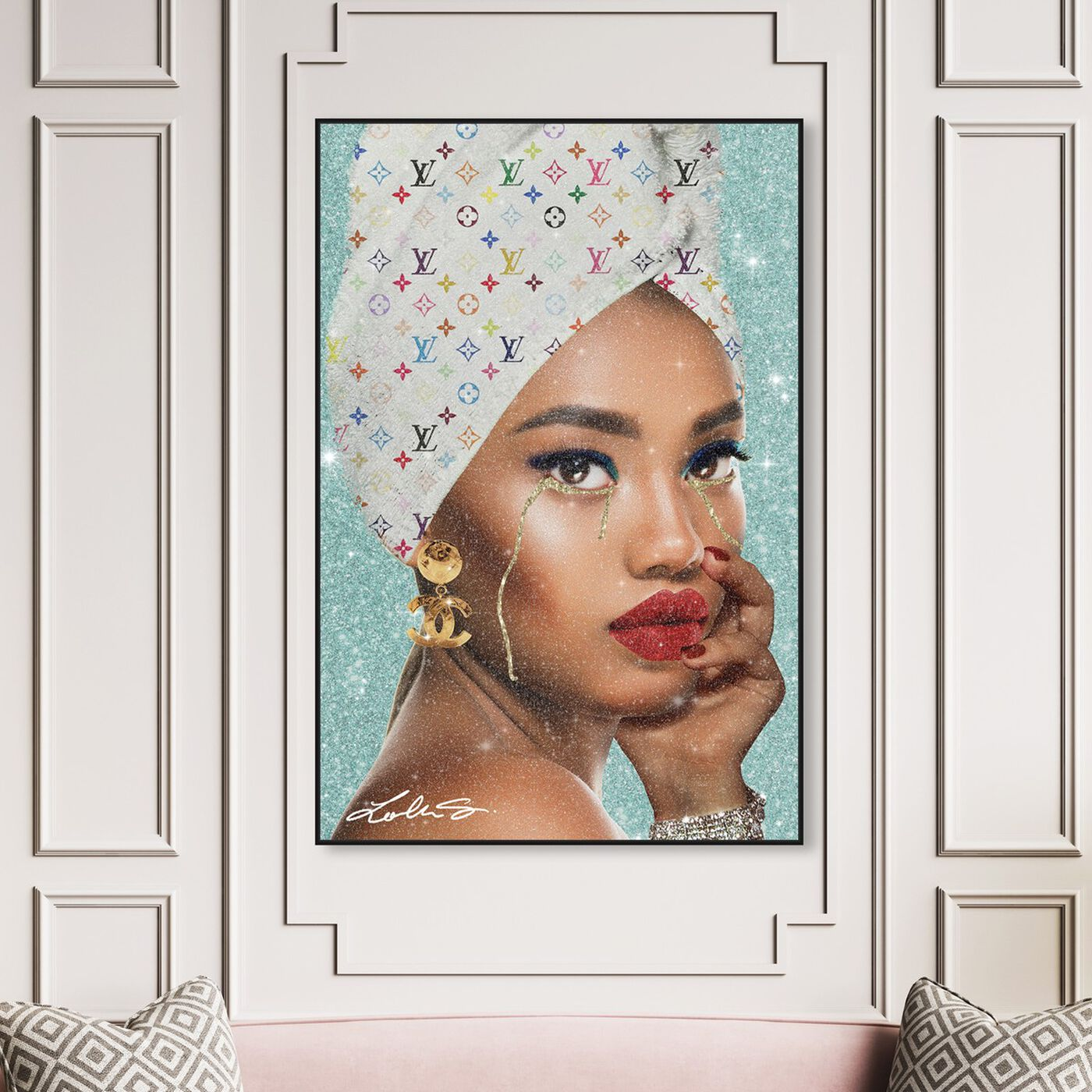 Hanging view of When My Private Jet Isn't Ready Yet featuring fashion and glam and portraits art.