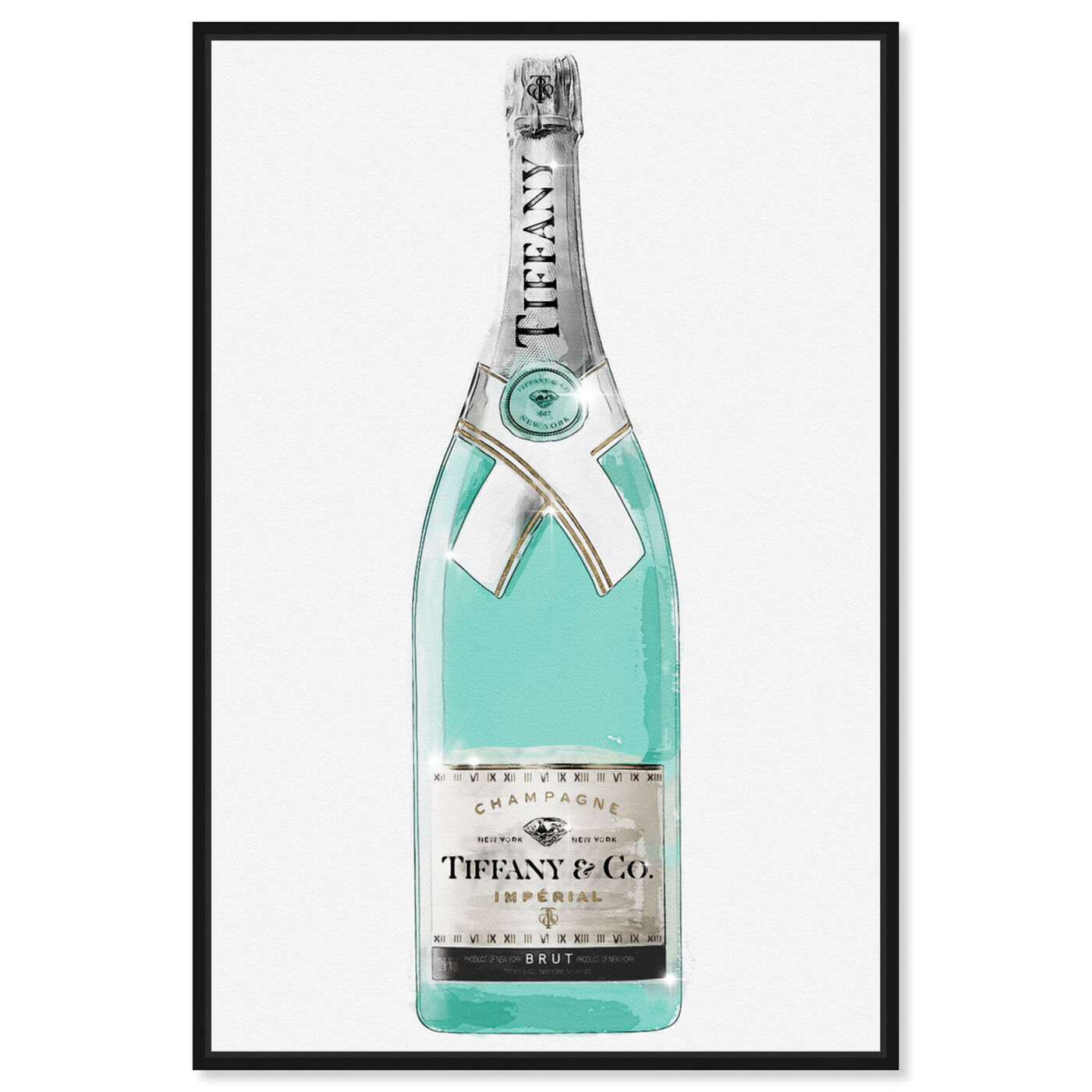 Front view of Priceless Champagne featuring drinks and spirits and champagne art.