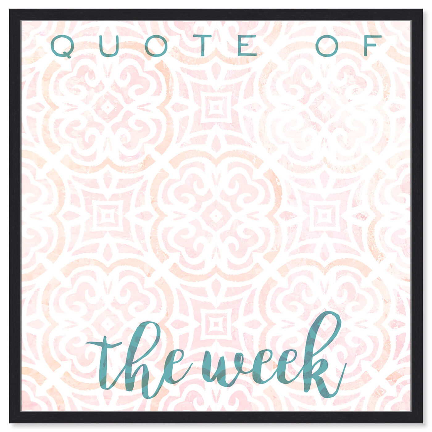 Front view of Quote Of The Week Bright featuring education and office and whiteboards art.