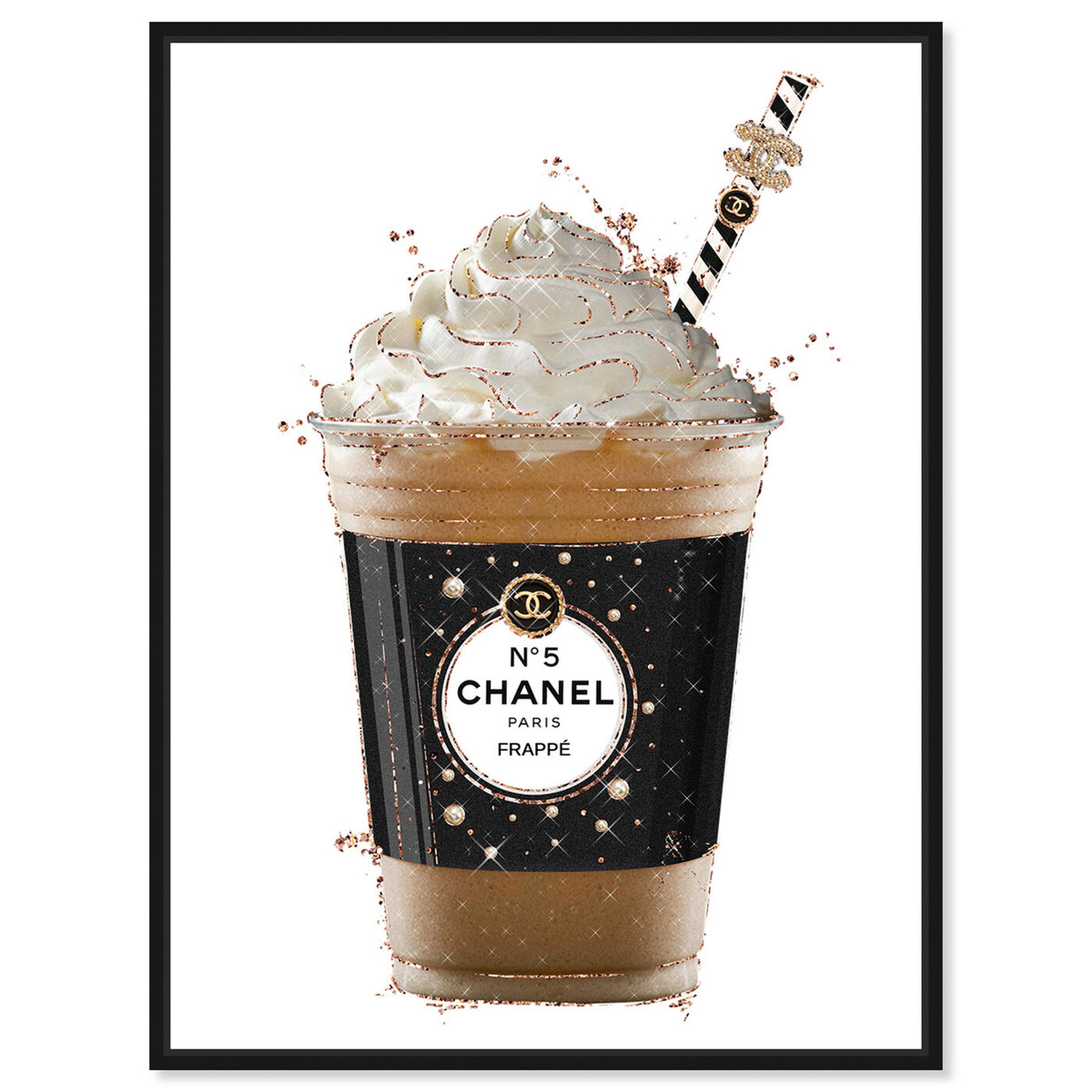 Front view of Pearly Coffee Drink featuring fashion and glam and lifestyle art.