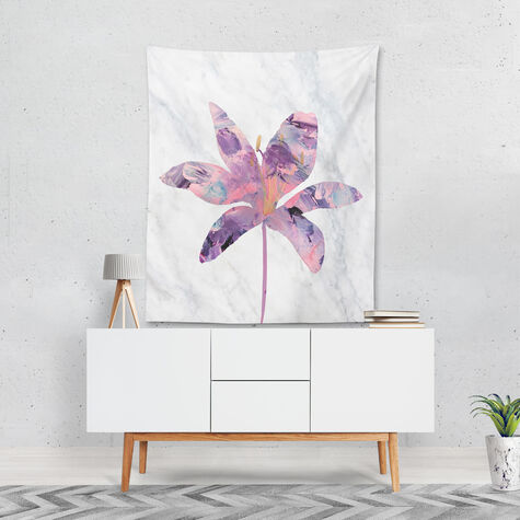 Amethyst Floral Tapestry Art