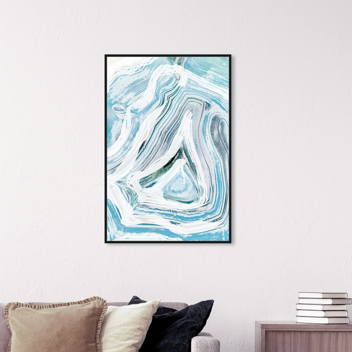 Hanging view of Iced Geo featuring abstract and crystals art.