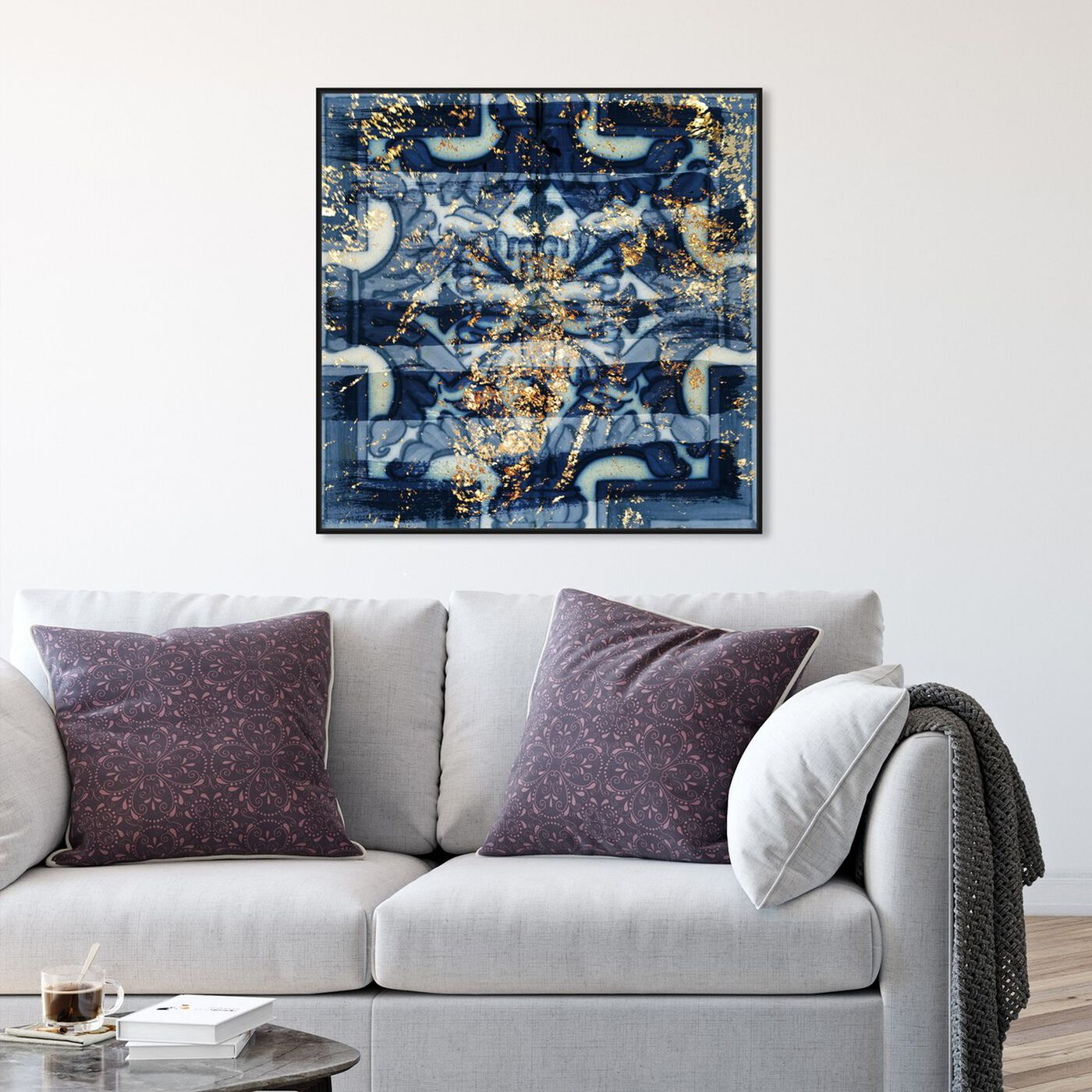 Hanging view of Tileaux featuring abstract and patterns art.