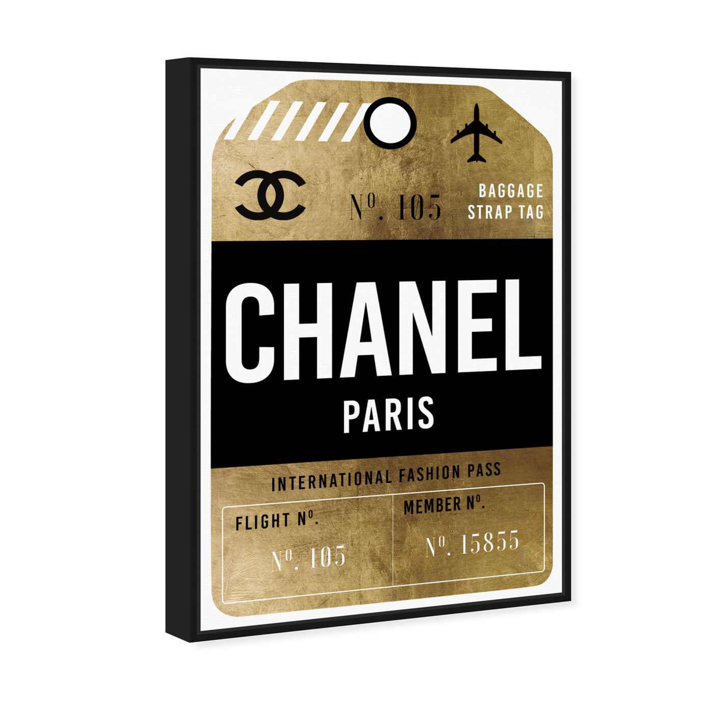 Angled view of Fashion Pass Luggage Tag featuring fashion and glam and road signs art.