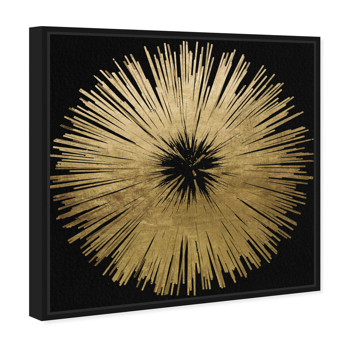 Angled view of Sunburst Golden Night featuring abstract and paint art.