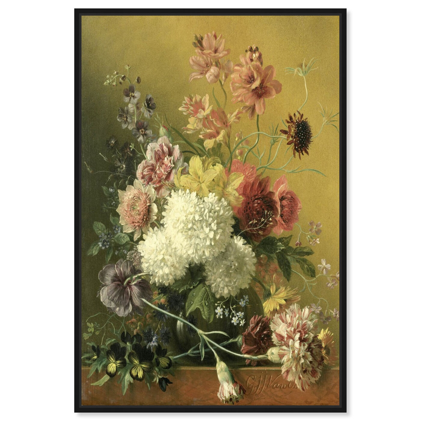 Front view of Flower Arrangement - The Art Cabinet featuring classic and figurative and french décor art.