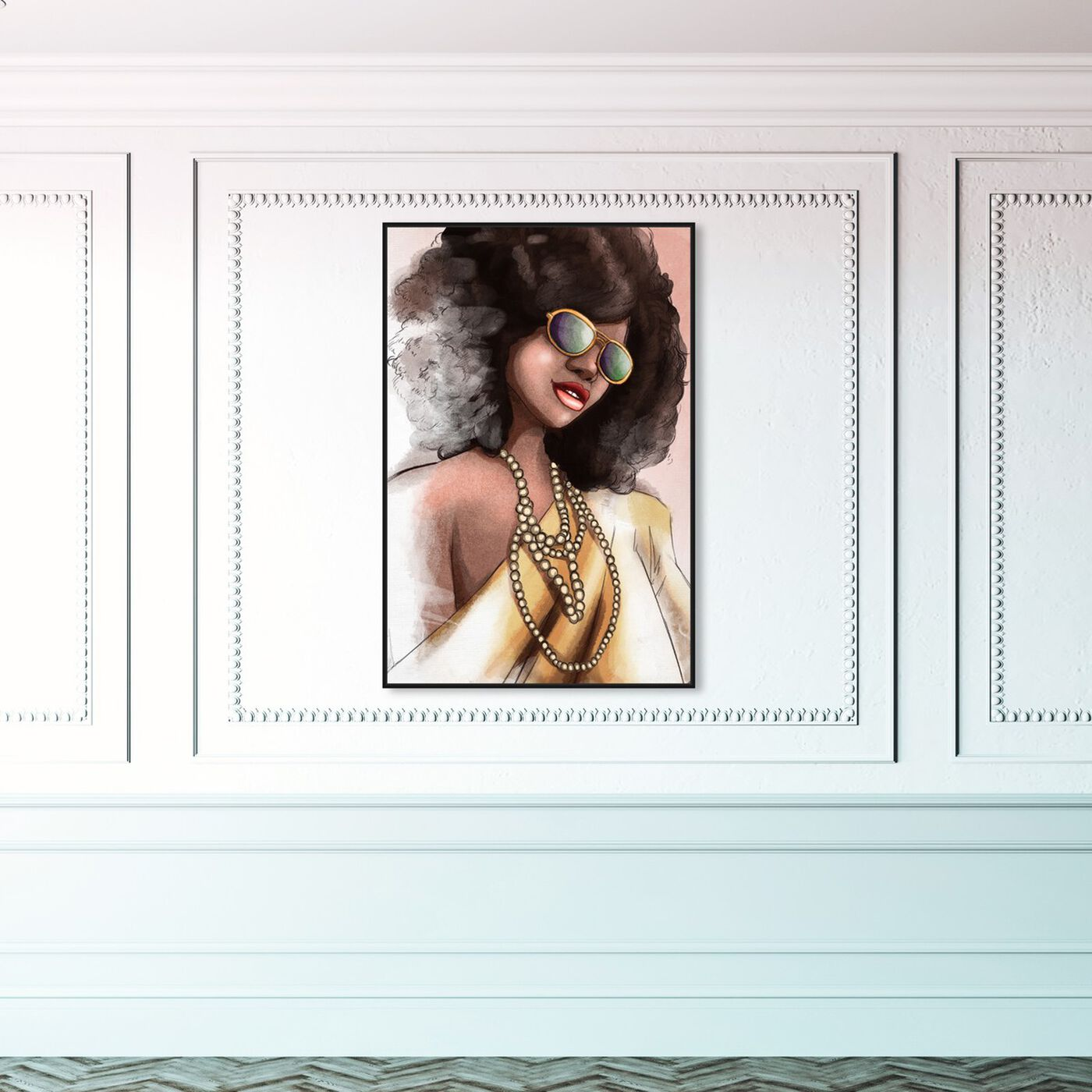 Hanging view of Elegant Fade featuring fashion and glam and portraits art.