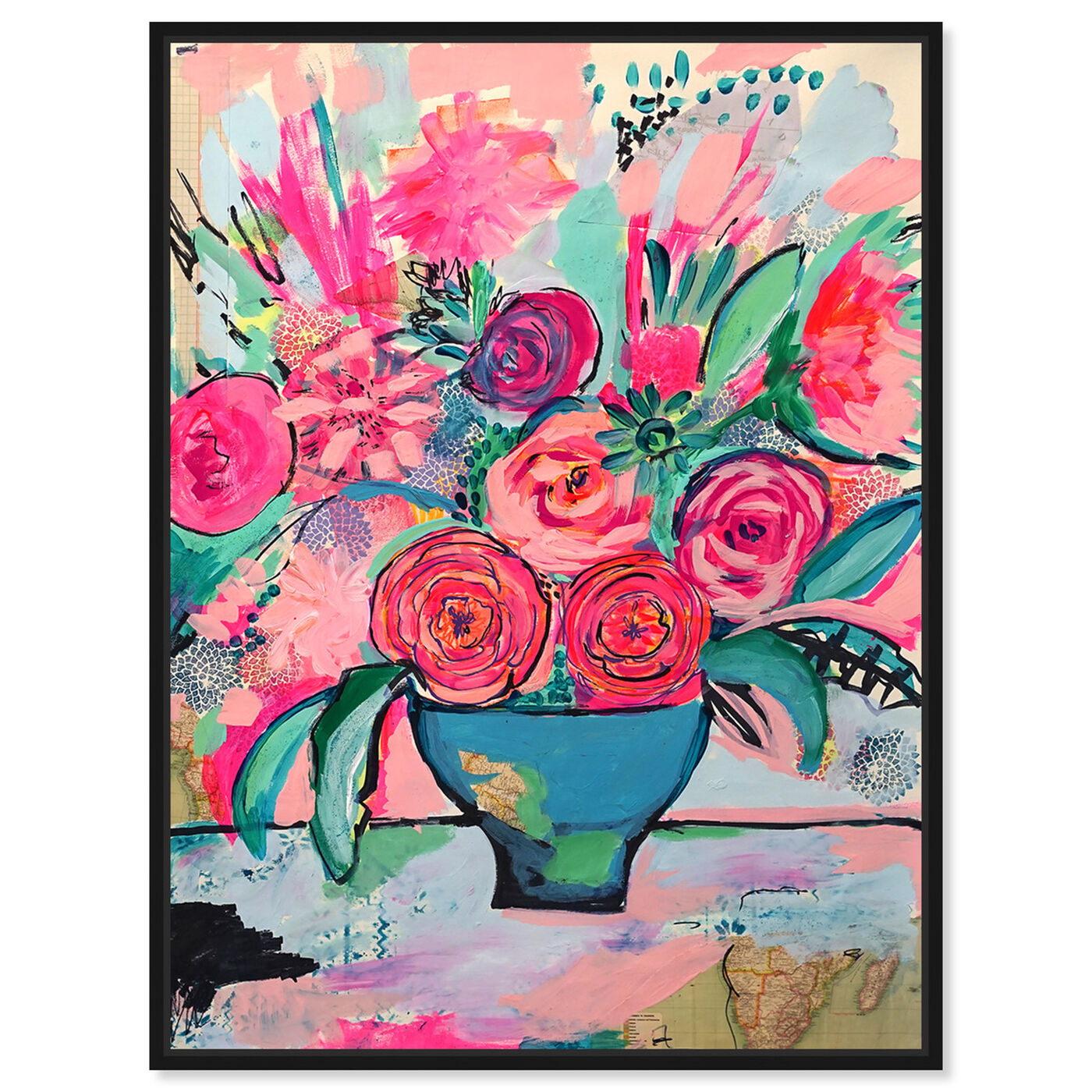 Front view of Viva la Vida featuring floral and botanical and florals art.