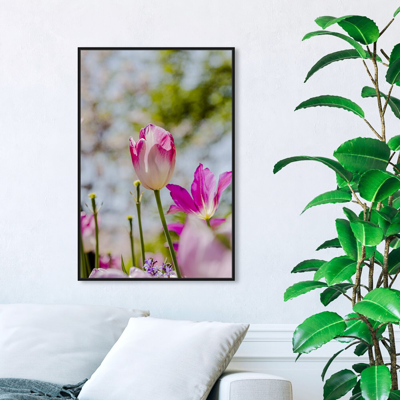 Hanging view of Curro Cardenal - Flower at the Center featuring floral and botanical and florals art.
