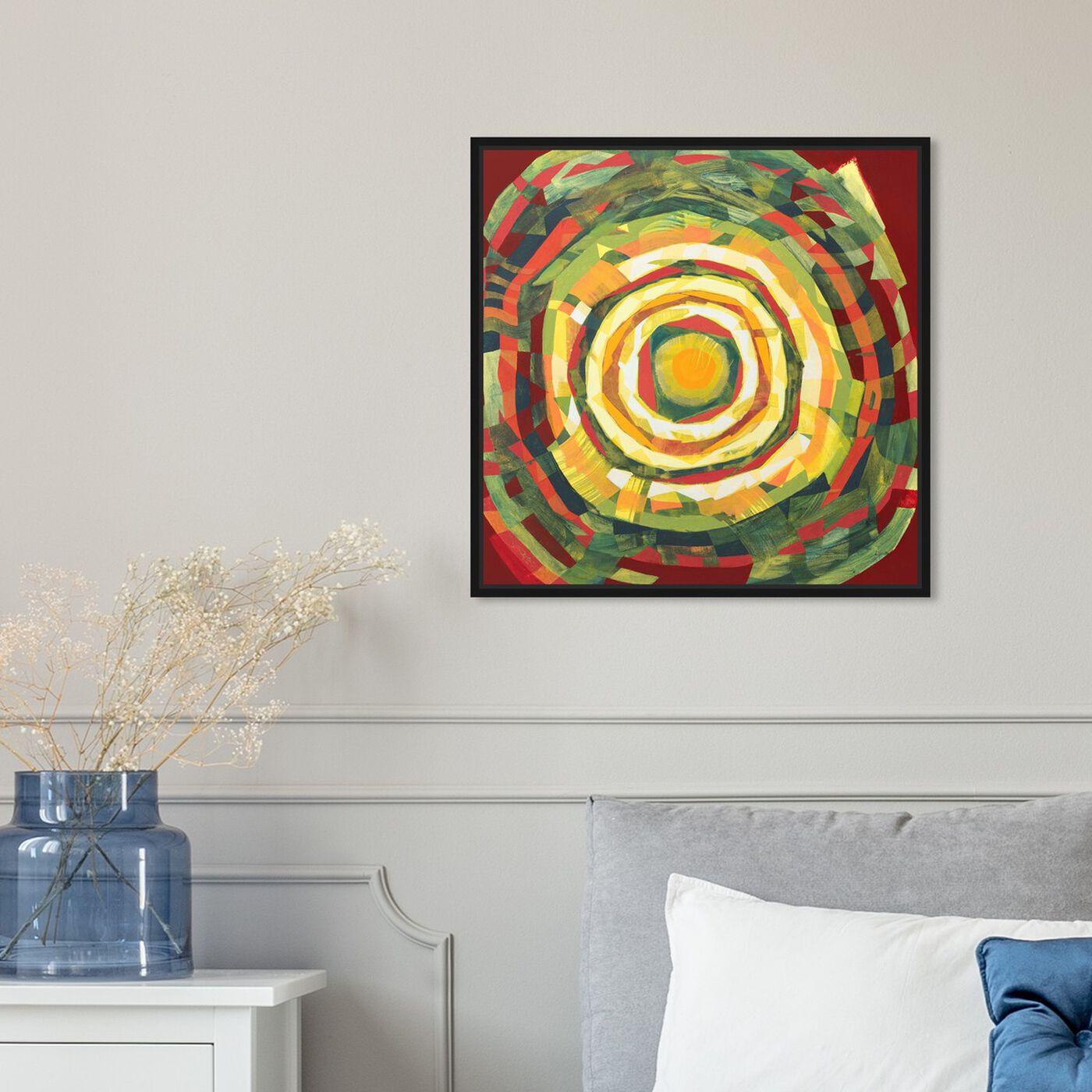 Hanging view of Sai - Pictis Spiralis Natura 1NM1139 featuring abstract and geometric art.