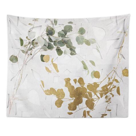 Golden Leaves Tapestry Art