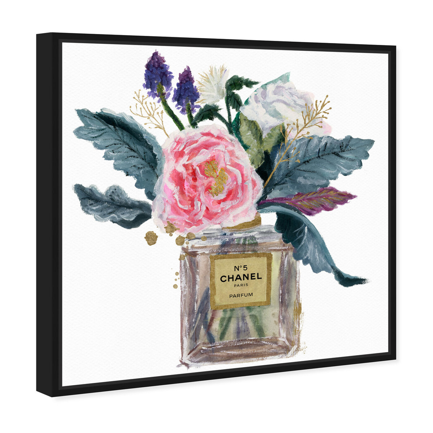 Angled view of Eau de Peony featuring fashion and glam and perfumes art.