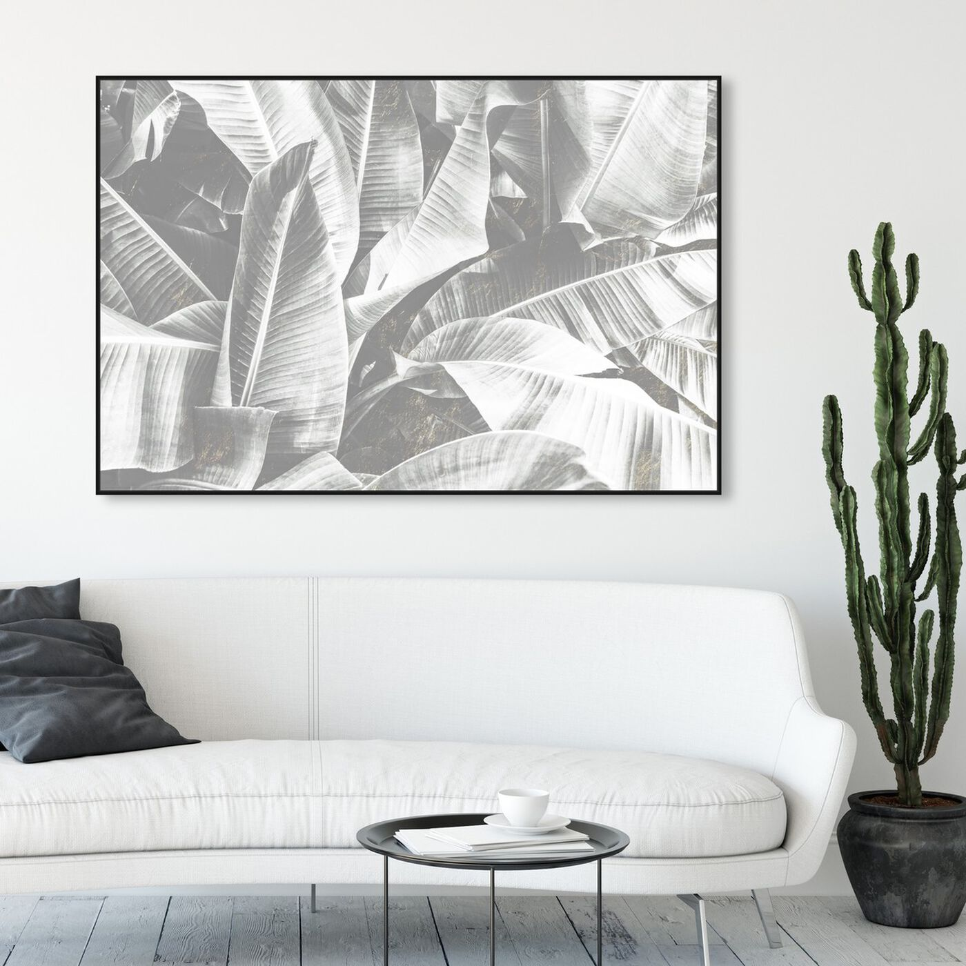 Hanging view of Banana Leaf Light featuring floral and botanical and botanicals art.