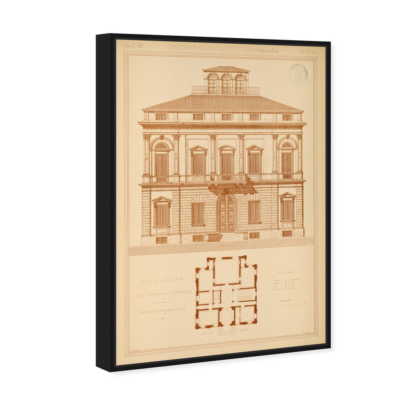 Angled view of Villa Lazzeri - The Art Cabinet featuring architecture and buildings and structures art.