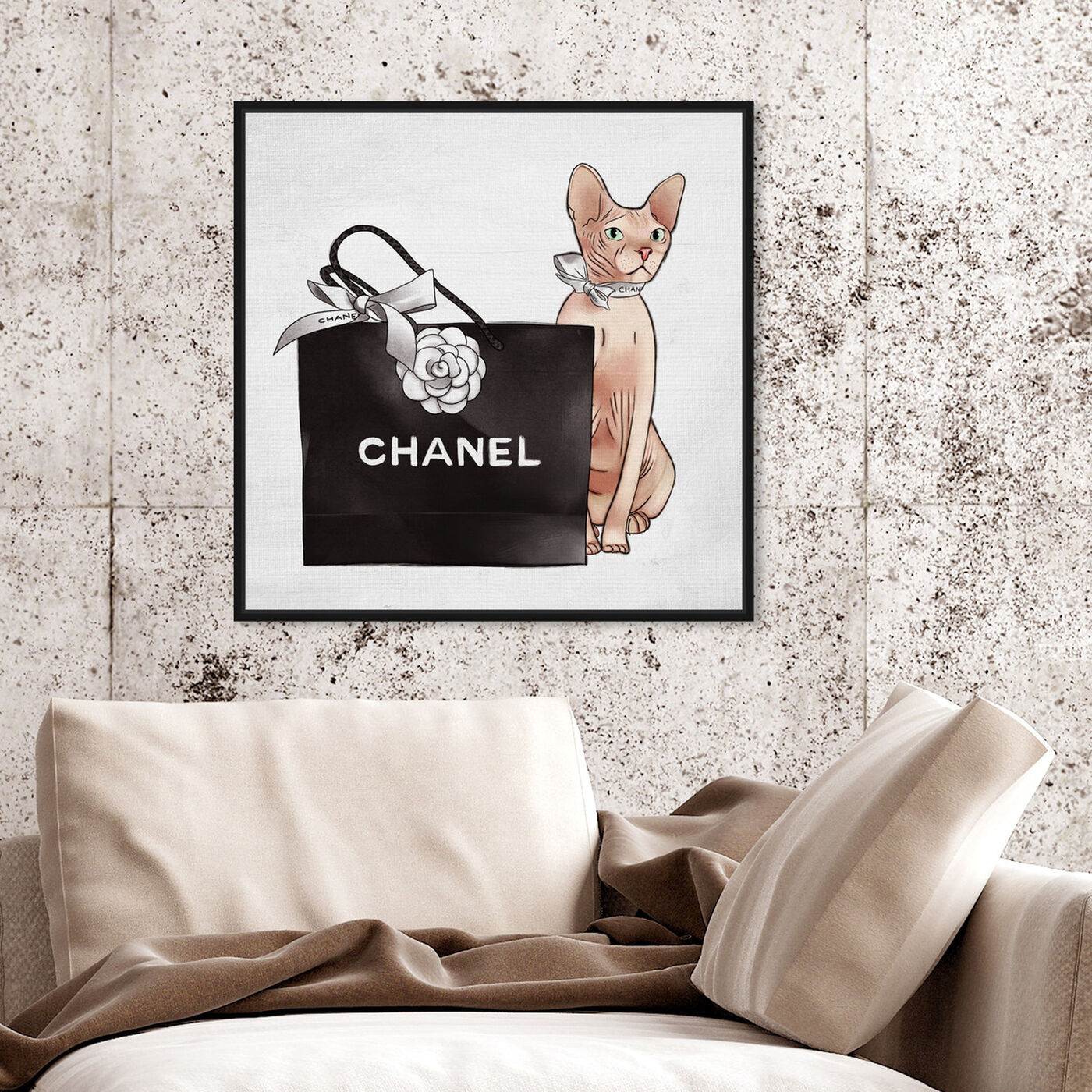 Hanging view of Naked Shopper featuring fashion and glam and lifestyle art.