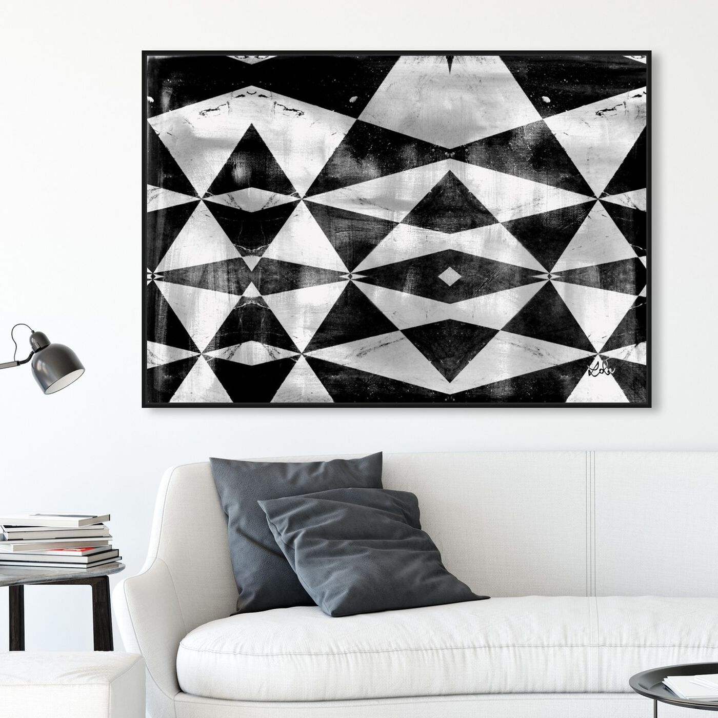 Hanging view of Artistic Fuel featuring abstract and geometric art.