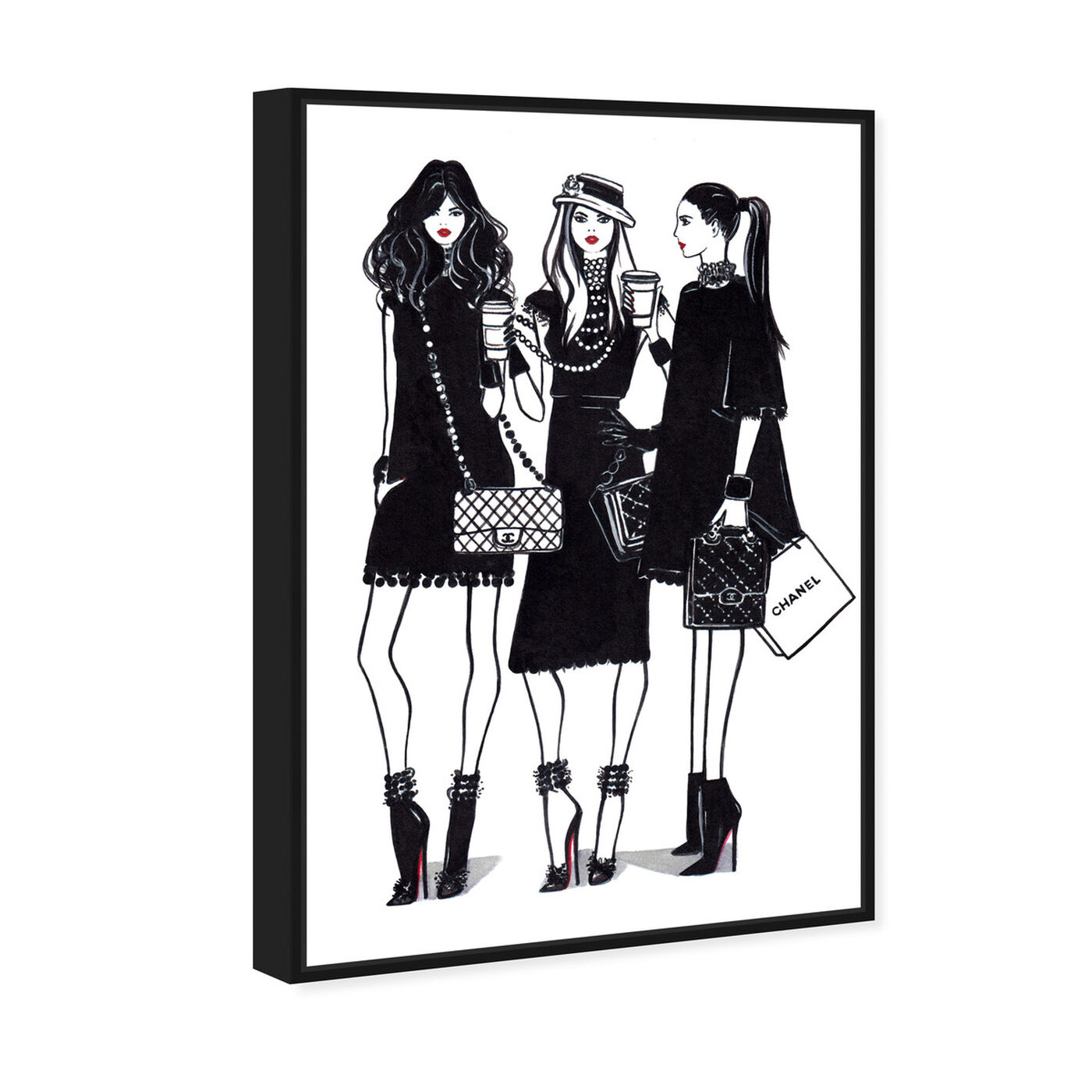 Angled view of Doll Memories - Friends Shopping featuring fashion and glam and outfits art.