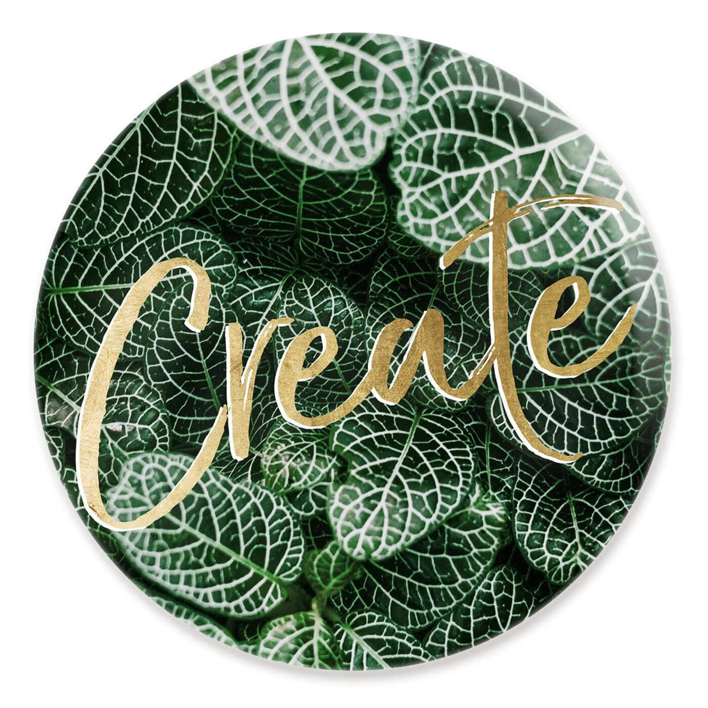 Front view of Create Jungle Circle featuring typography and quotes and motivational quotes and sayings art.