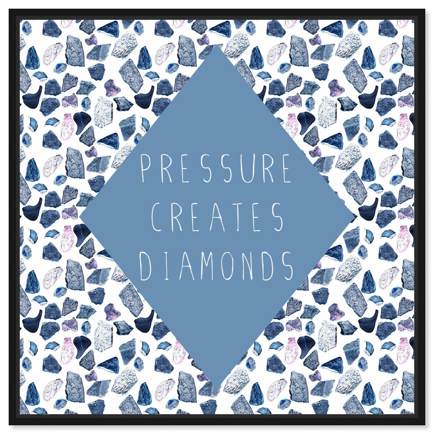 Front view of Pressure Creates featuring typography and quotes and quotes and sayings art.