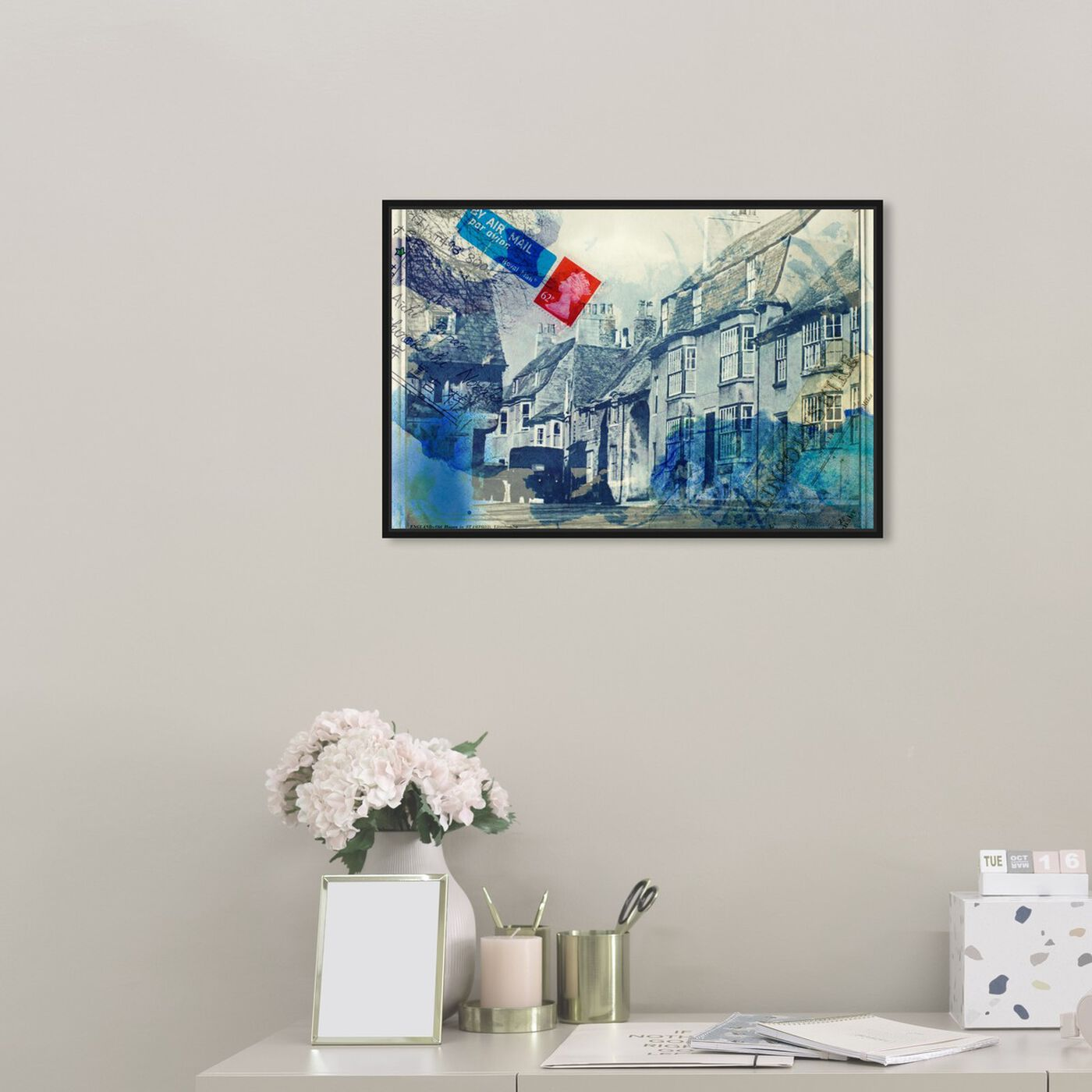 Hanging view of Stamford Lincolnshire featuring architecture and buildings and european buildings art.