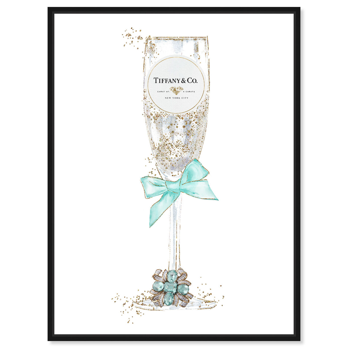 Front view of Delicate Royal Bubbly Champagne featuring fashion and glam and jewelry art.