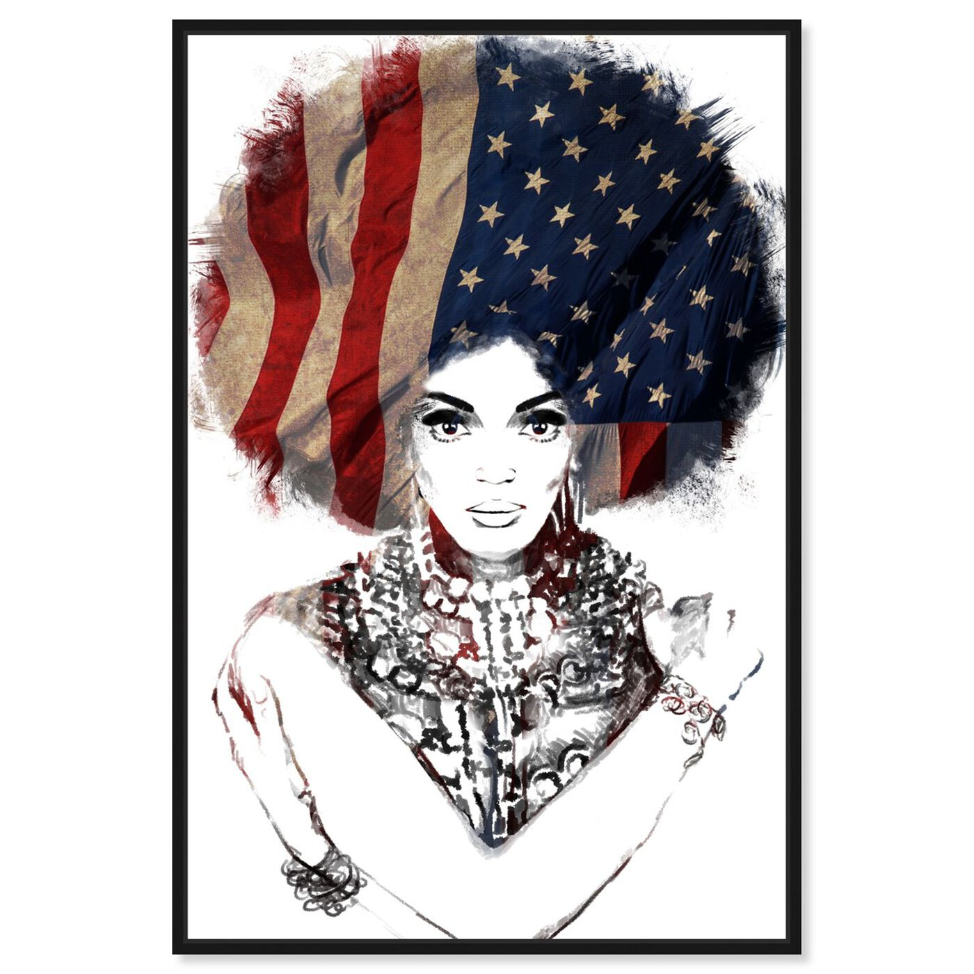 Front view of New American Woman featuring people and portraits and portraits art.
