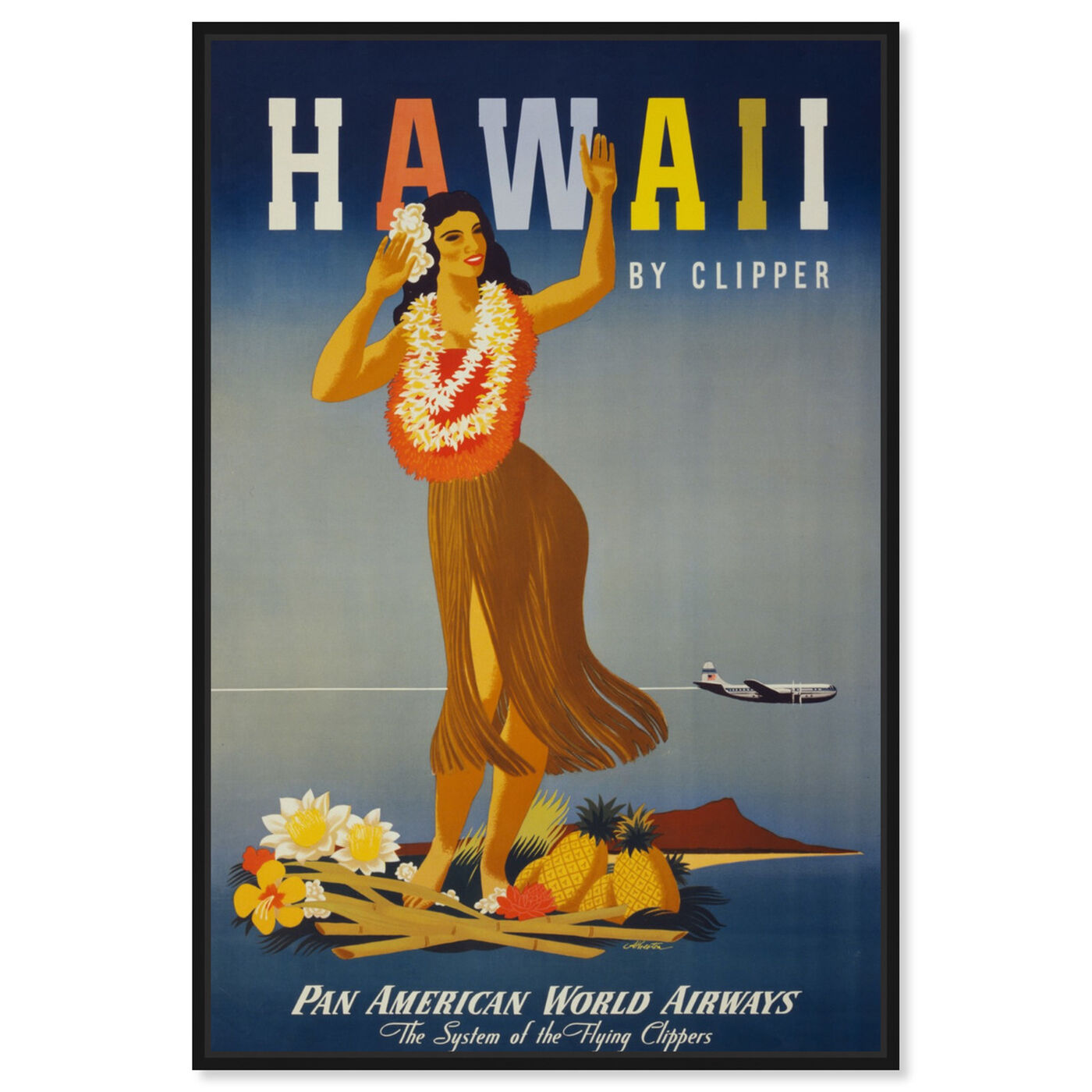 Front view of Hawaii featuring cities and skylines and united states cities art.