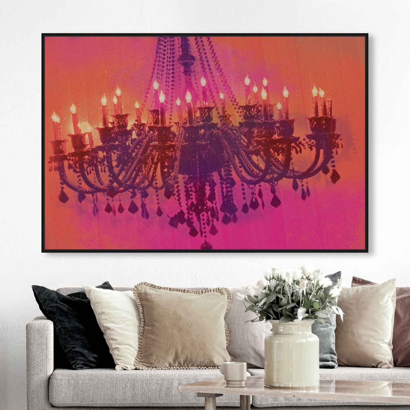 Hanging view of Light me up featuring fashion and glam and chandeliers art.