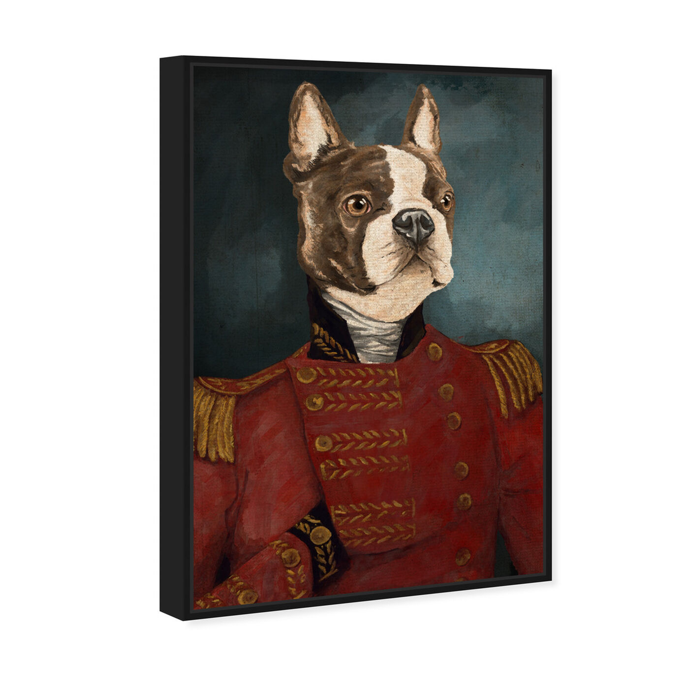 Angled view of Dapper Terrier featuring animals and dogs and puppies art.
