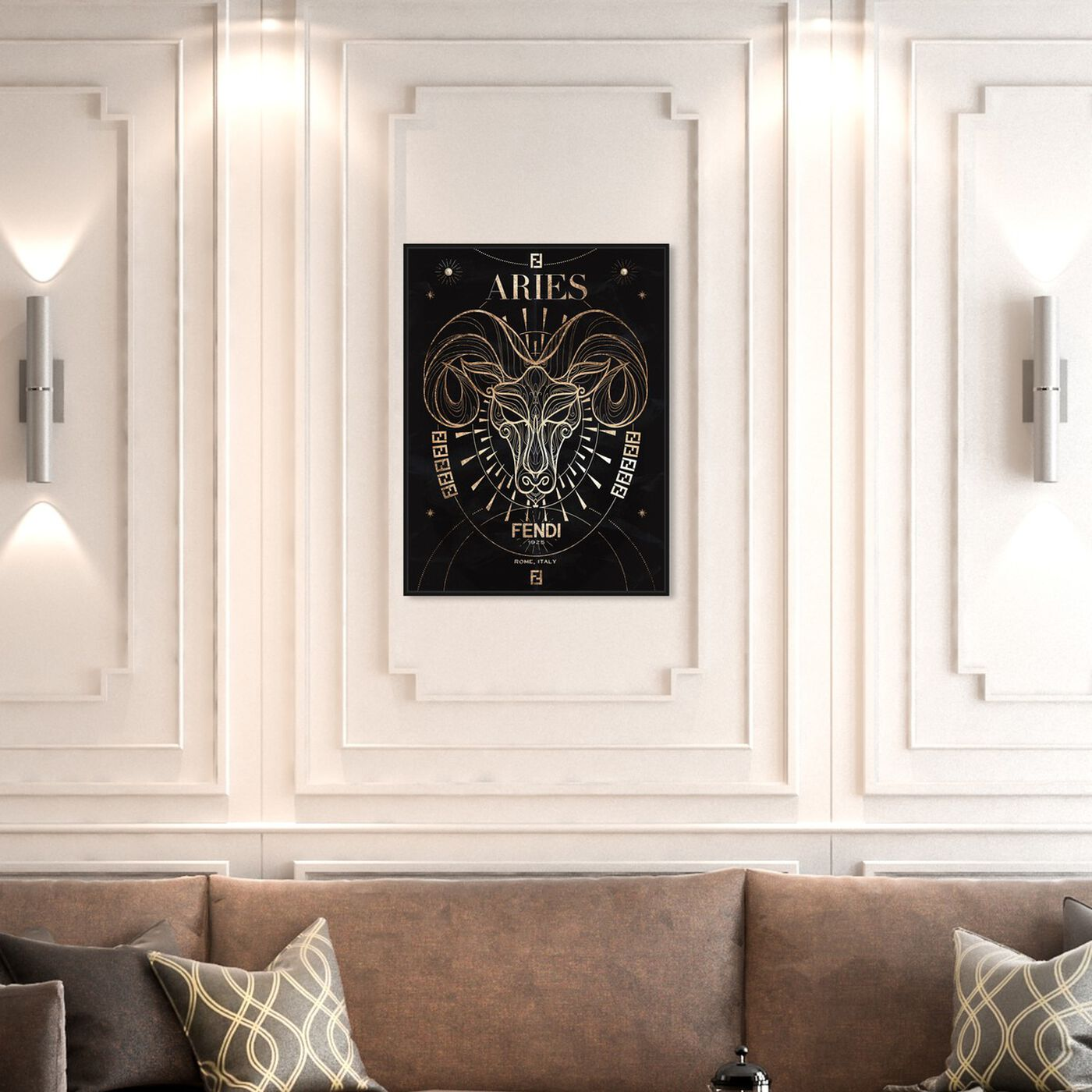 Hanging view of Mémoire d'un Aries featuring fashion and glam and lifestyle art.