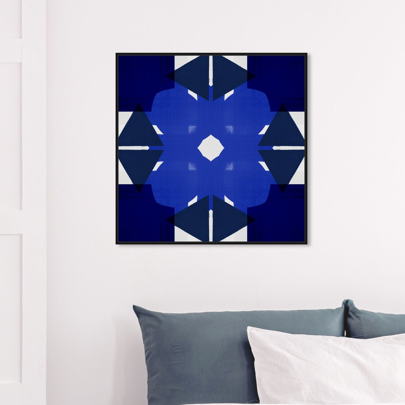 Hanging view of Geometry Studies II featuring abstract and geometric art.
