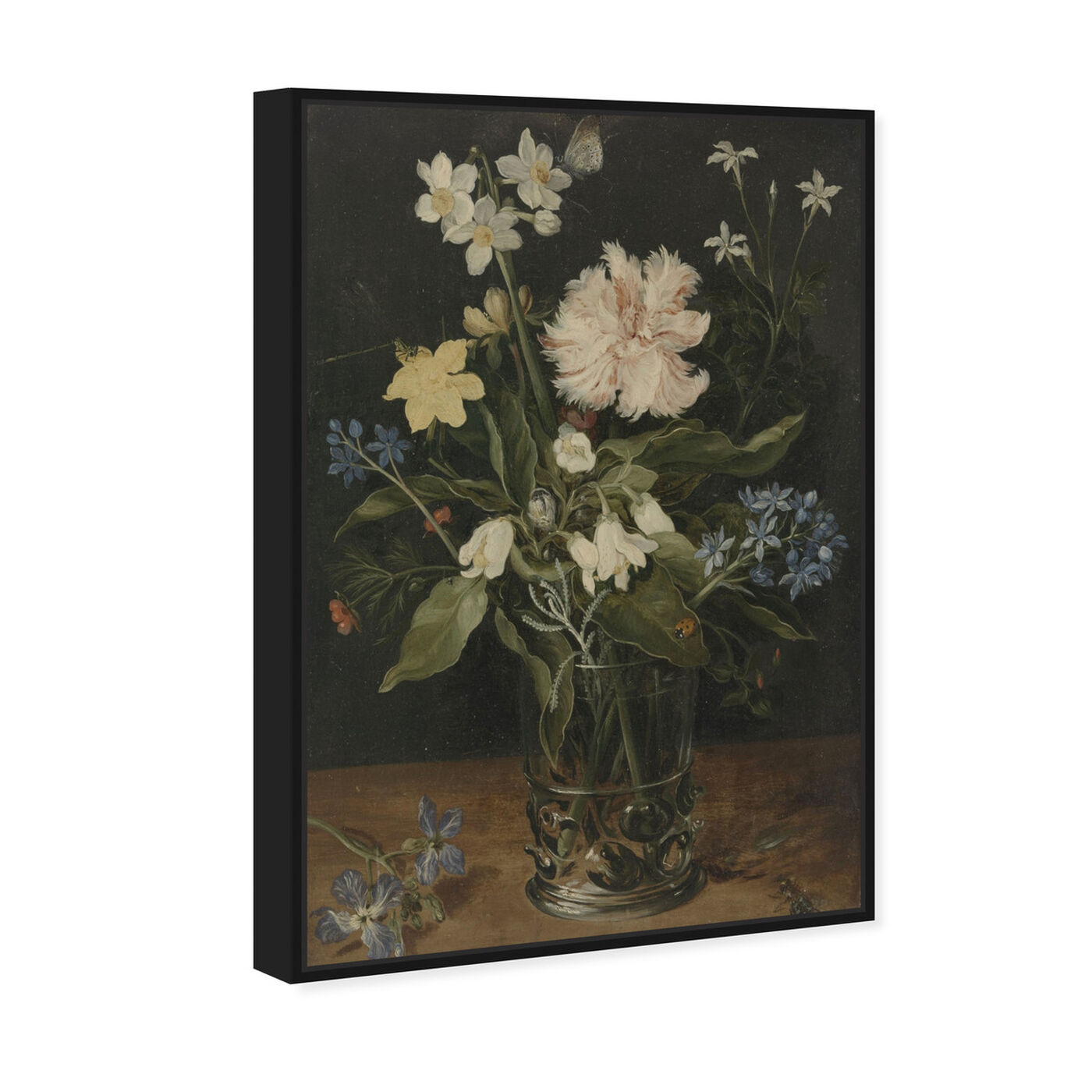 Angled view of Flower Arrangement VI - The Art Cabinet featuring floral and botanical and florals art.