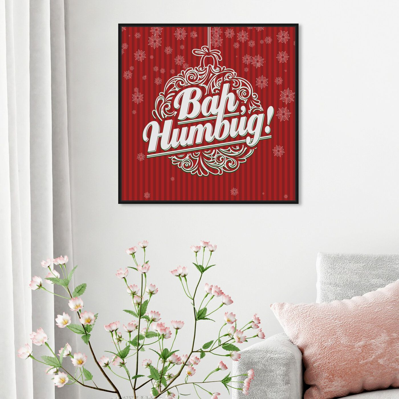 Hanging view of Bah Humbug featuring holiday and seasonal and holidays art.