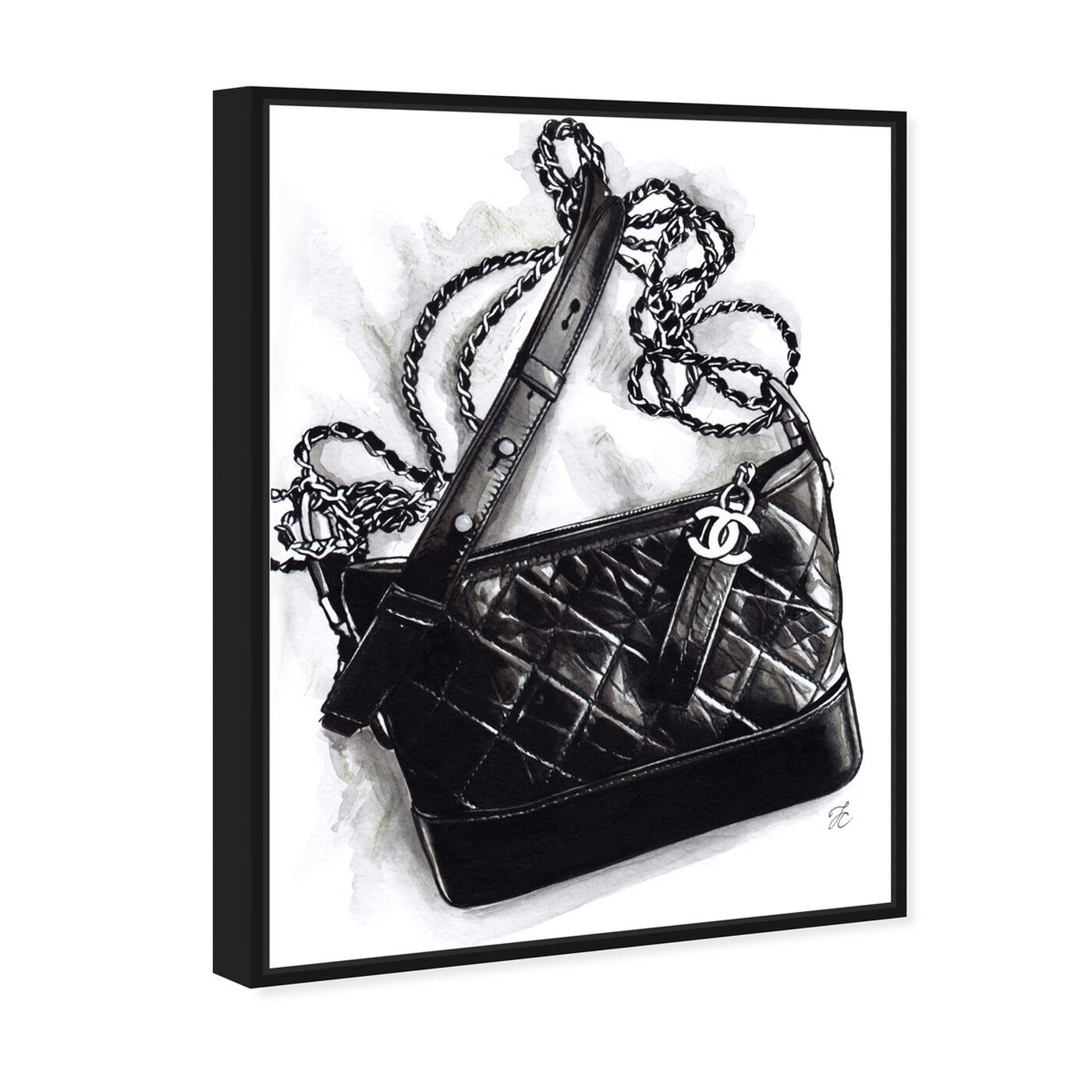 Angled view of Doll Memories - Gabrielle Handbag featuring fashion and glam and handbags art.