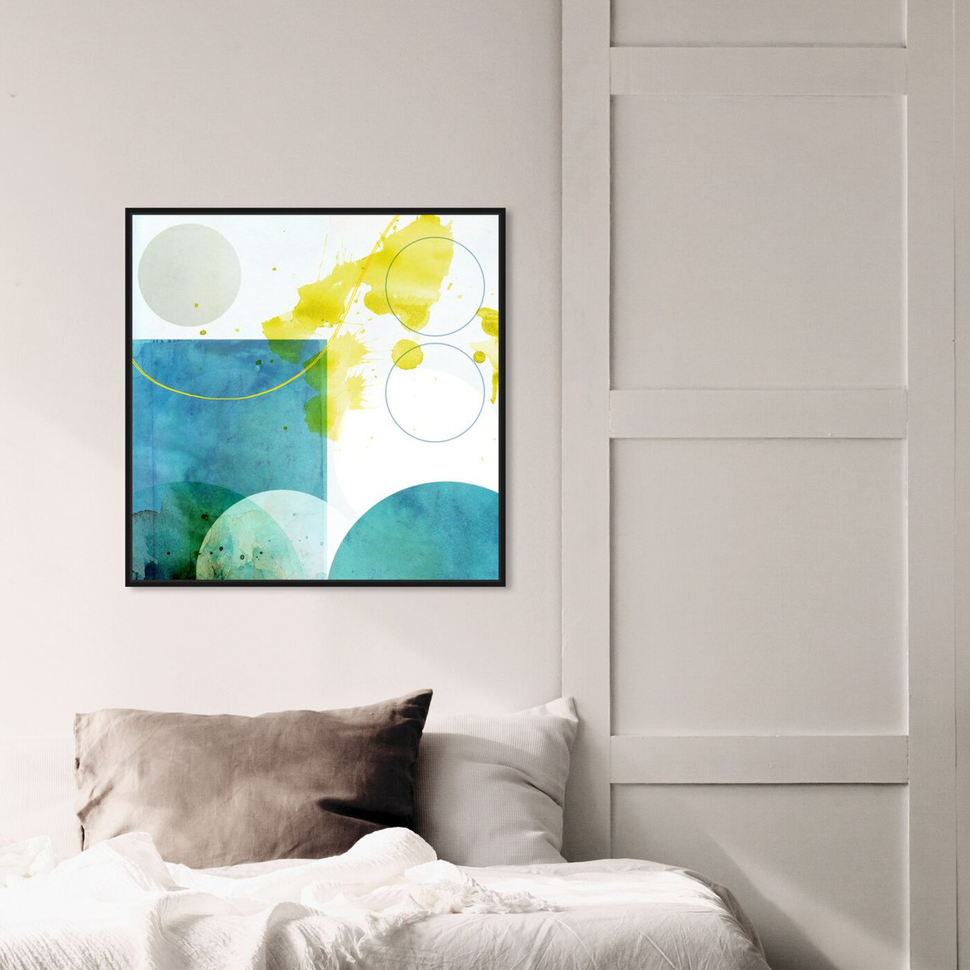 Hanging view of Lauren featuring abstract and geometric art.