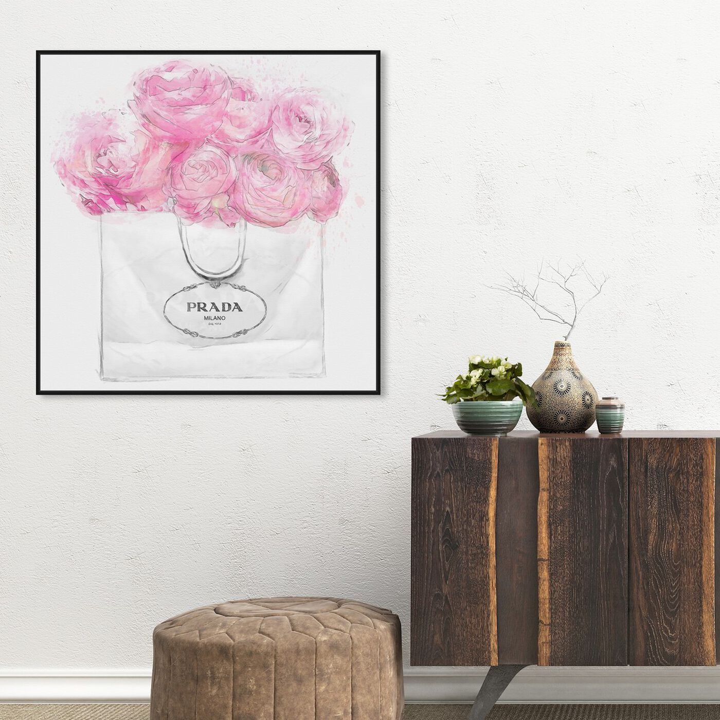 Hanging view of Shopping for Peonies Light featuring fashion and glam and fashion art.