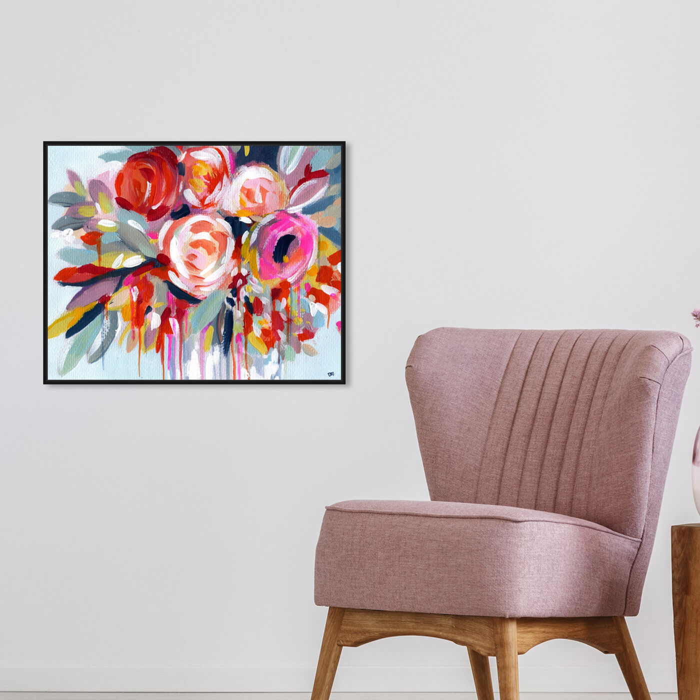 Hanging view of Fleur featuring floral and botanical and florals art.