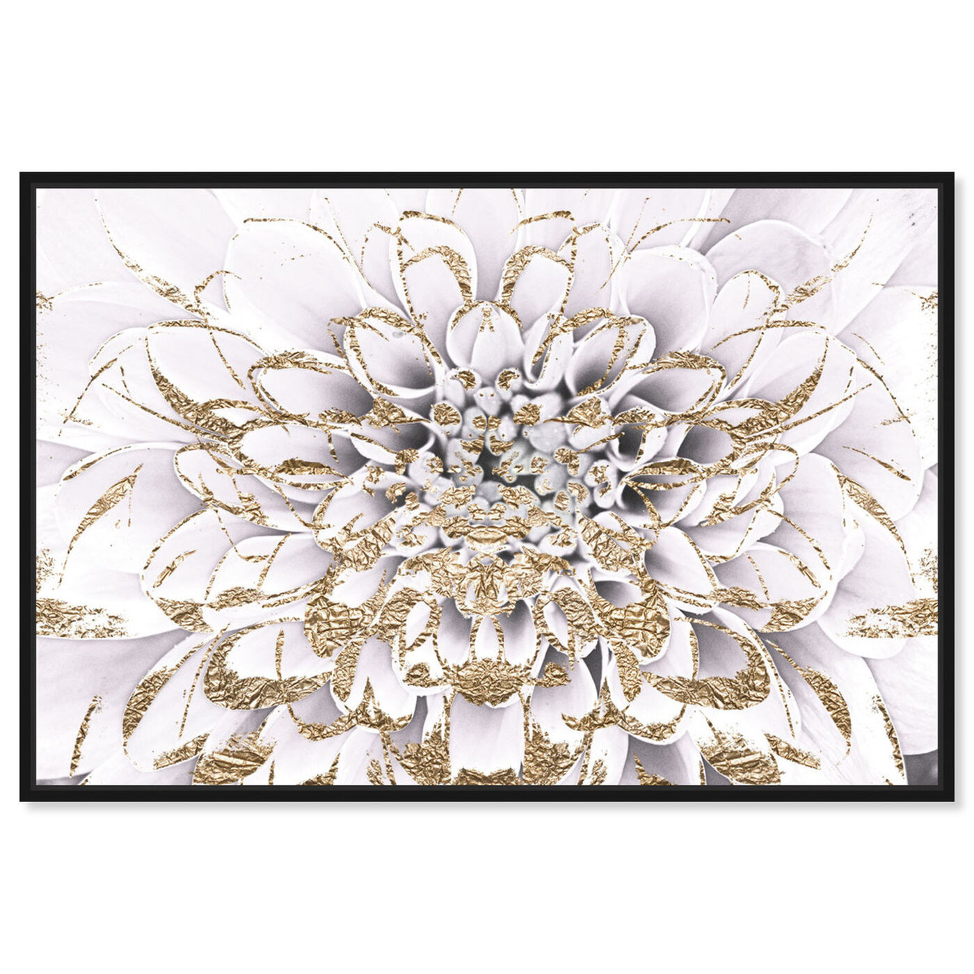 Front view of Floralia Blanc featuring floral and botanical and florals art.