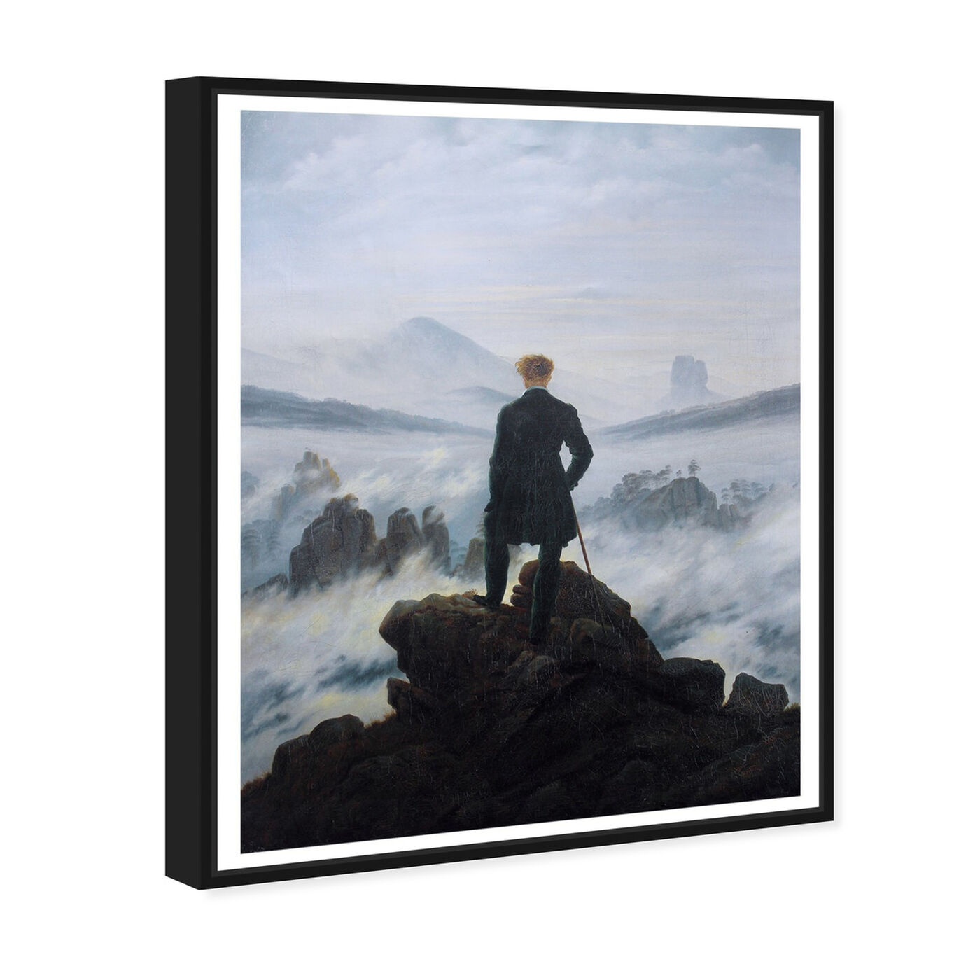 Angled view of Friedrich - The Wanderer featuring classic and figurative and classical figures art.