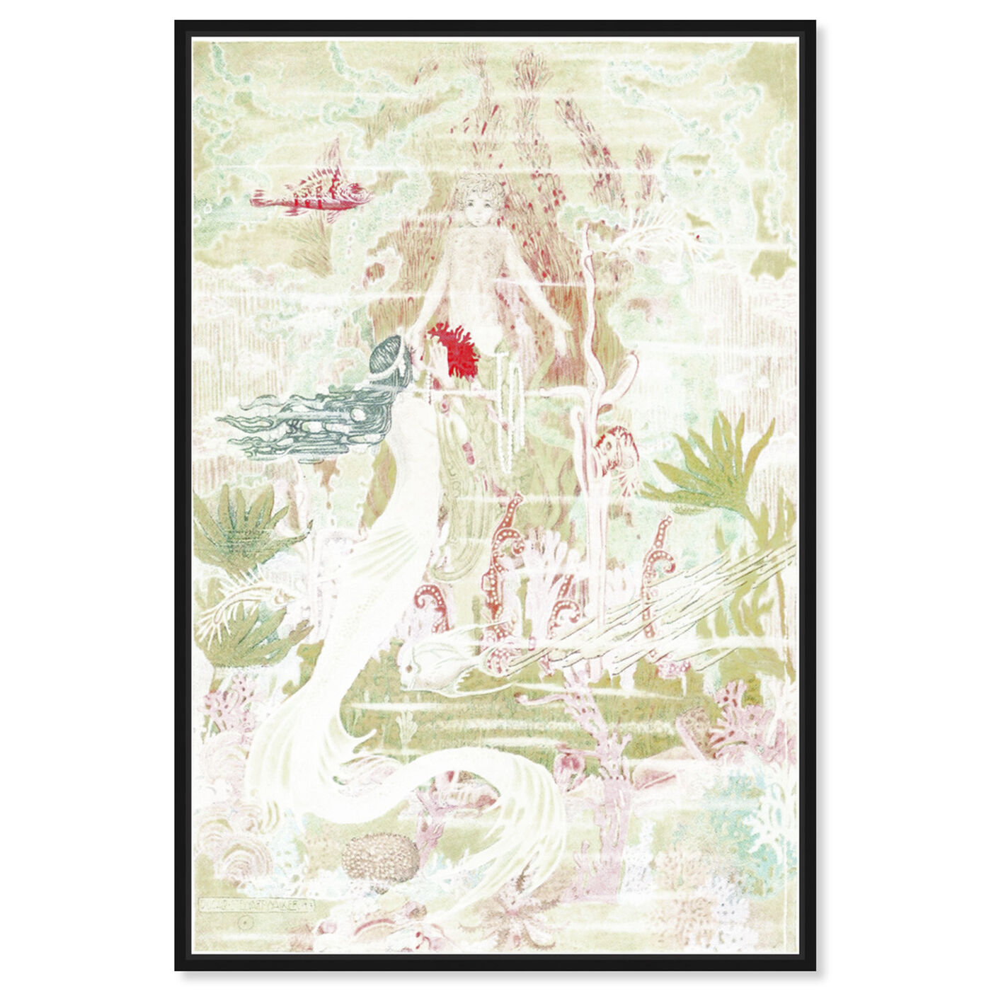 Front view of Little Mermaid Original featuring fantasy and sci-fi and fantasy creatures art.